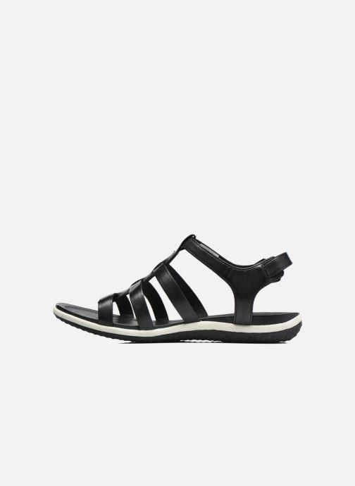 Sandales et nu-pieds Geox D SAND.VEGA A D72R6A Noir vue face