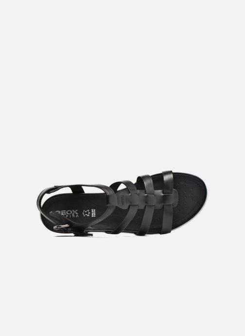 Sandales et nu-pieds Geox D SAND.VEGA A D72R6A Noir vue gauche