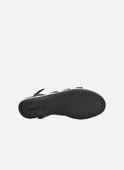 Sandales et nu-pieds Geox D SAND.VEGA A D72R6A Noir vue haut