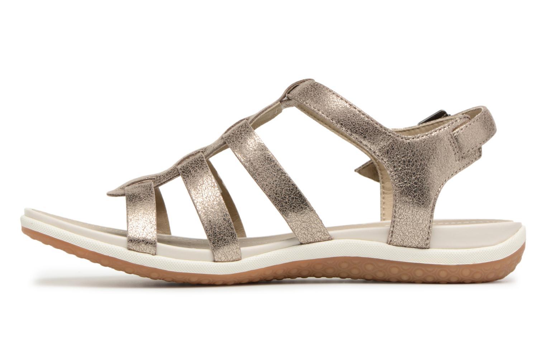 Sandals Geox D SAND.VEGA A D72R6A Silver front view