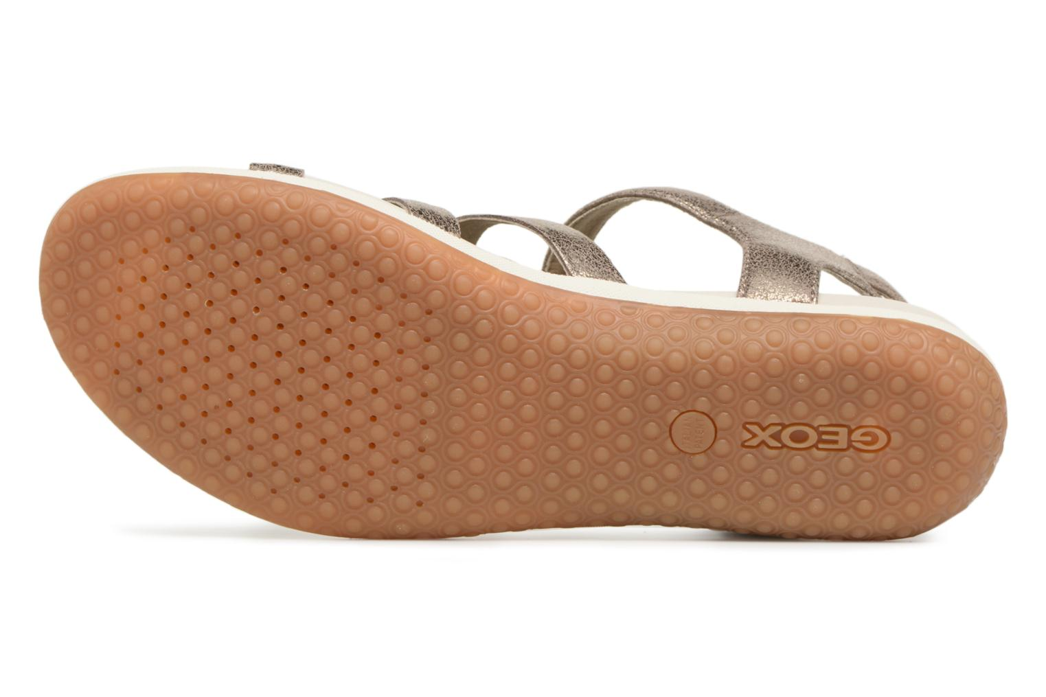Sandals Geox D SAND.VEGA A D72R6A Silver view from above