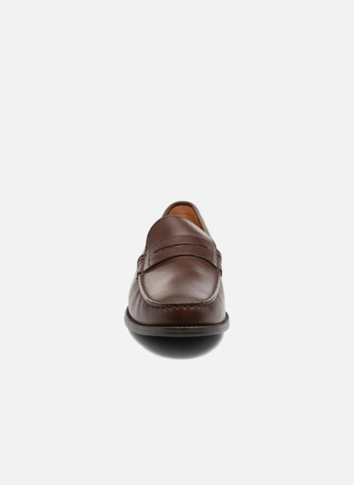 Mocassins Geox U NEW DAMON B U641ZB Marron vue portées chaussures