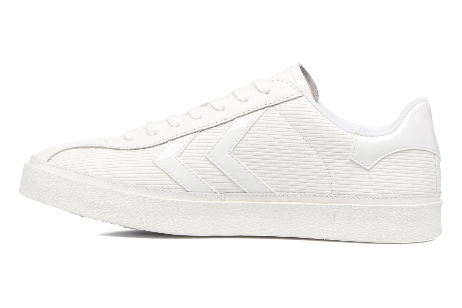 Trainers Hummel Diamant White Stripes White front view
