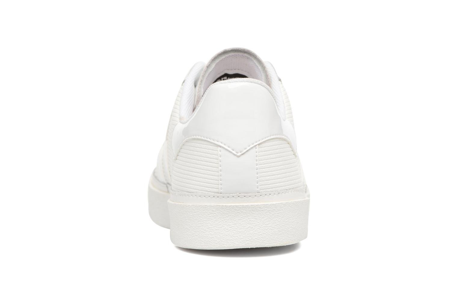 Trainers Hummel Diamant White Stripes White view from the right