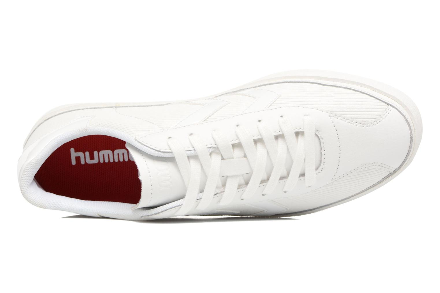 Trainers Hummel Diamant White Stripes White view from the left