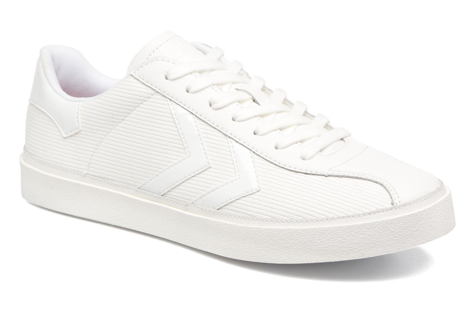 Trainers Hummel Diamant White Stripes White detailed view/ Pair view