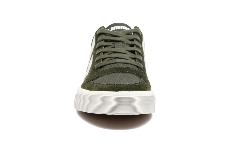 Baskets Hummel Stadil Rmx Low Vert vue portées chaussures