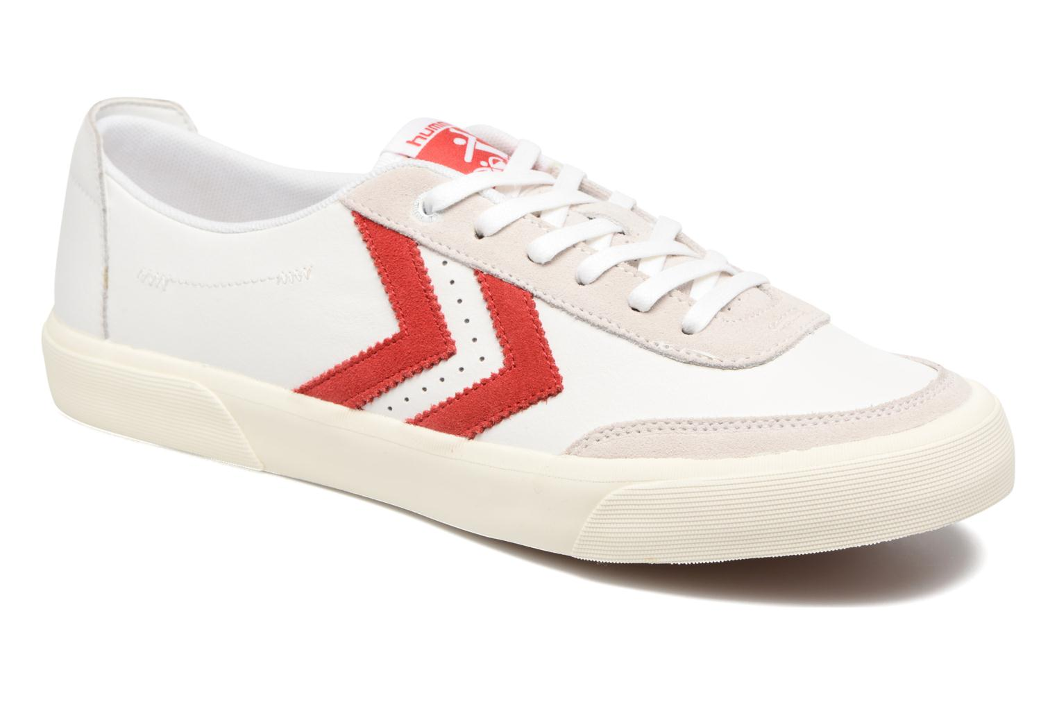 Baskets Hummel Stockholm Low Blanc vue détail/paire