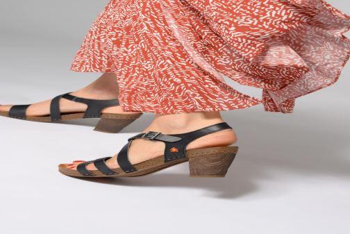 Sandales et nu-pieds Art I Meet 146 Noir vue bas / vue portée sac