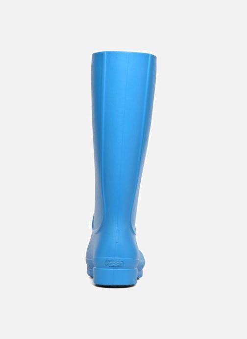 Bottes Crocs Wellie Rain Boots F Bleu vue droite