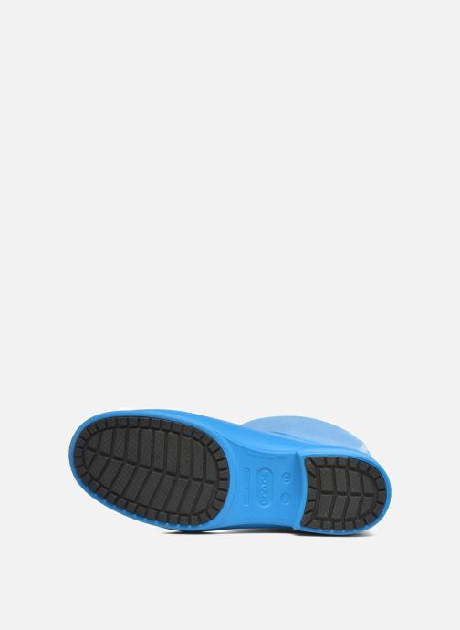 Bottes Crocs Wellie Rain Boots F Bleu vue haut