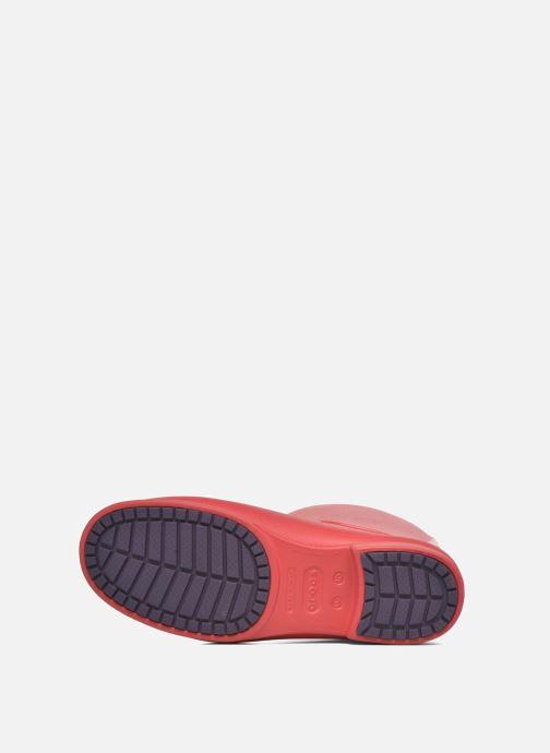 Bottes Crocs Wellie Rain Boots F Rouge vue haut