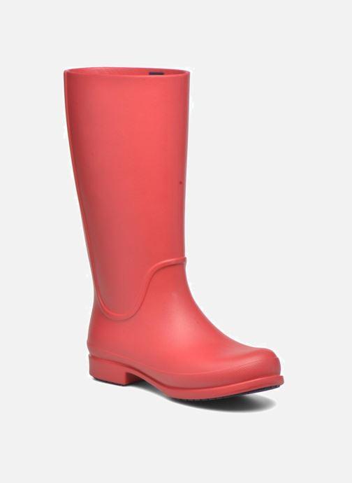 Bottes Crocs Wellie Rain Boots F Rouge vue détail/paire