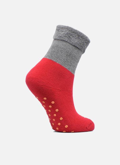 Chaussettes et collants Doré Doré Chaussons-chaussettes Enfant Coton Anti-dérapants Bi-color Rouge vue détail/paire