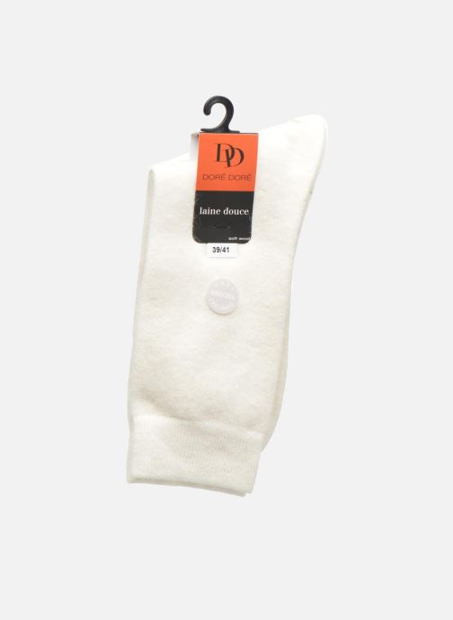 Sokken en panty's Doré Doré Chaussettes Femme Soft Angora Chiné Wit achterkant