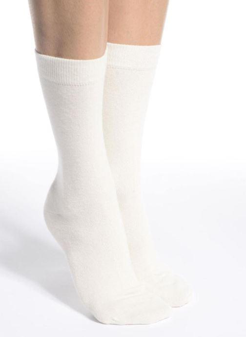 Sokken en panty's Doré Doré Chaussettes Femme Soft Angora Chiné Wit boven