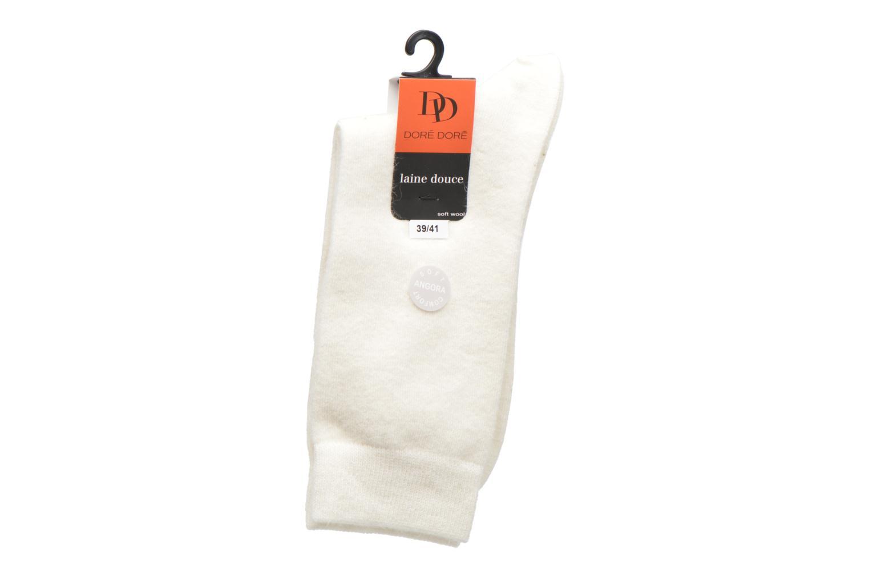 Chaussettes et collants Doré Doré Chaussettes Femme Soft Angora Chiné Blanc vue derrière