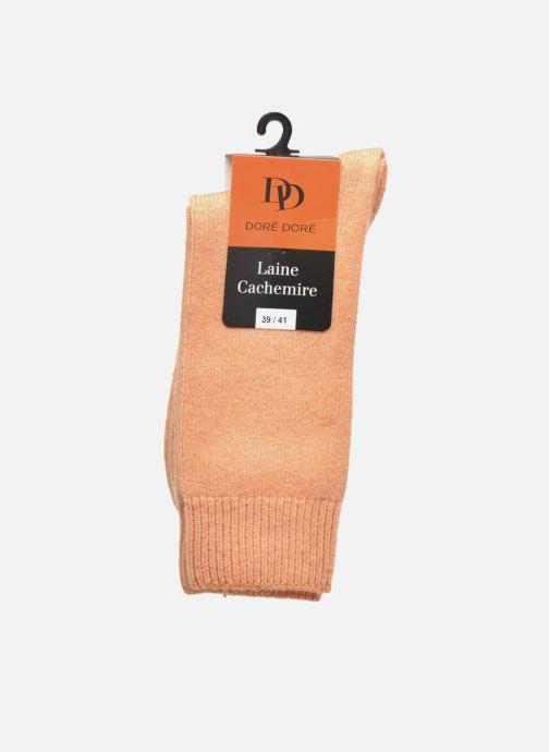 Chaussettes et collants Doré Doré Chaussettes Femme Laine et Cachemire Basique Orange vue derrière