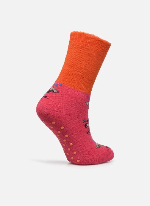 Chaussettes et collants Doré Doré Chaussons-chaussettes Enfant Coton Anti-dérapants Ours Rose vue portées chaussures