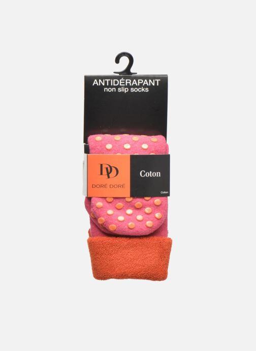 Chaussettes et collants Doré Doré Chaussons-chaussettes Enfant Coton Anti-dérapants Ours Rose vue derrière