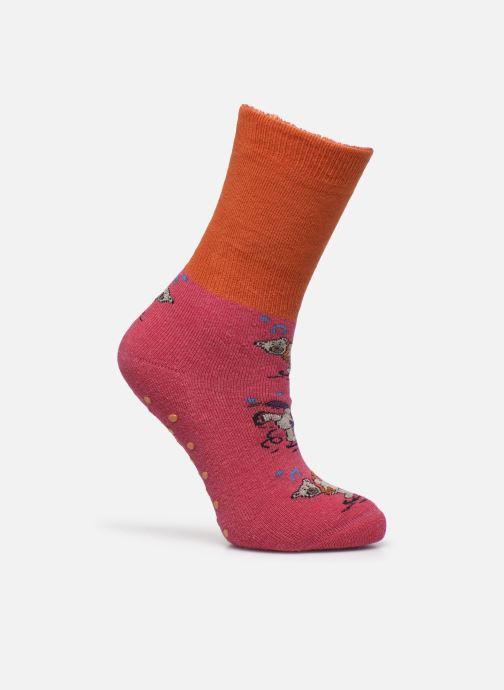 Chaussettes et collants Doré Doré Chaussons-chaussettes Enfant Coton Anti-dérapants Ours Rose vue détail/paire