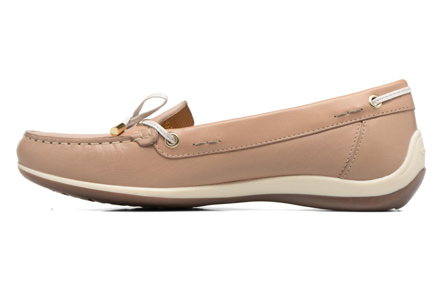 Loafers Geox D YUKI A D6455A Beige front view