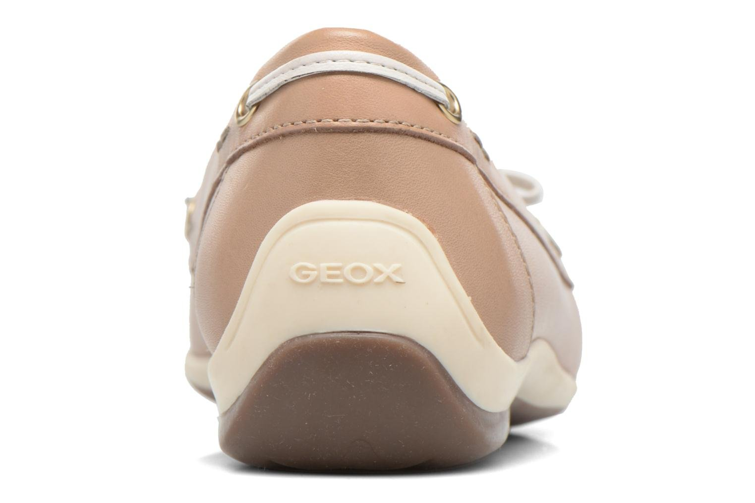 Loafers Geox D YUKI A D6455A Beige view from the right