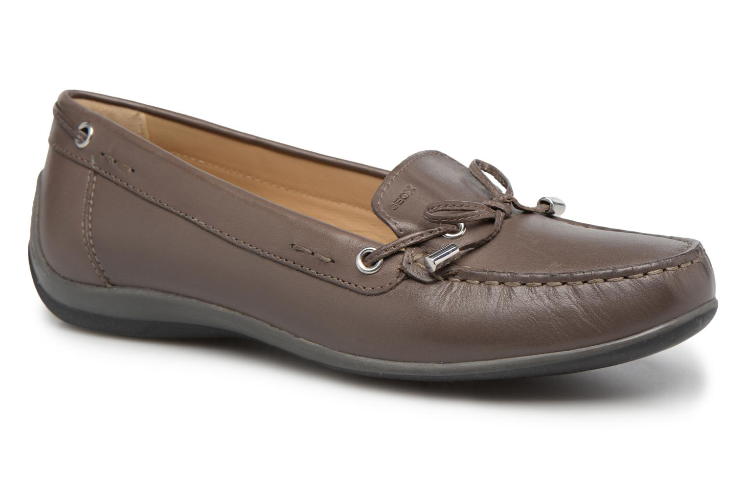 Loafers Geox D YUKI A D6455A Grey detailed view/ Pair view