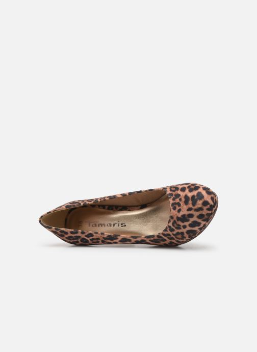 Zapatos de tacón Tamaris Freesia Beige vista lateral izquierda