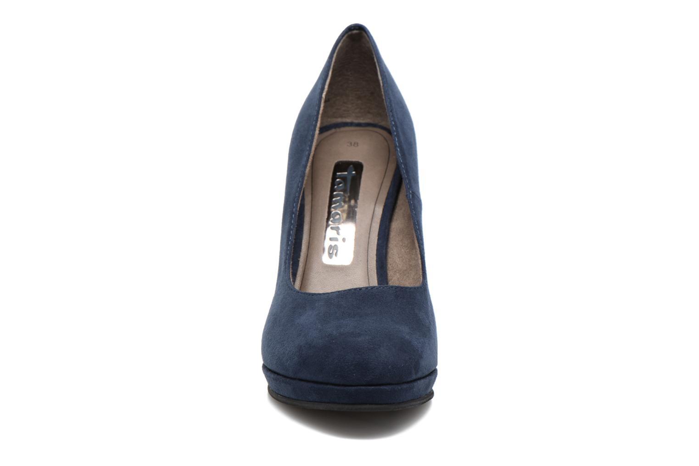 Escarpins Tamaris Freesia Bleu vue portées chaussures