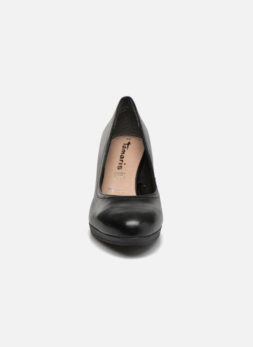 Zapatos de tacón Tamaris Fuchsia Negro vista del modelo