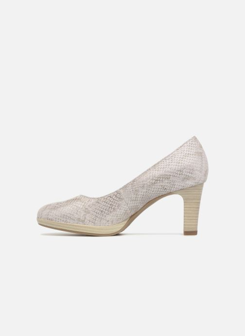 High heels Tamaris Fuchsia Silver front view