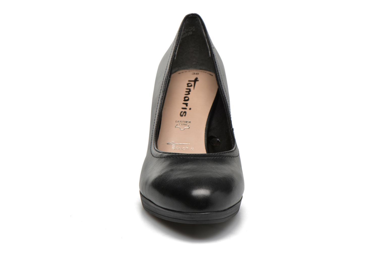 Escarpins Tamaris Fuchsia Noir vue portées chaussures