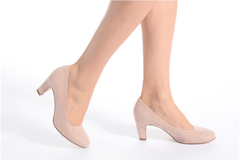 High heels Tamaris Jasmin Black view from underneath / model view