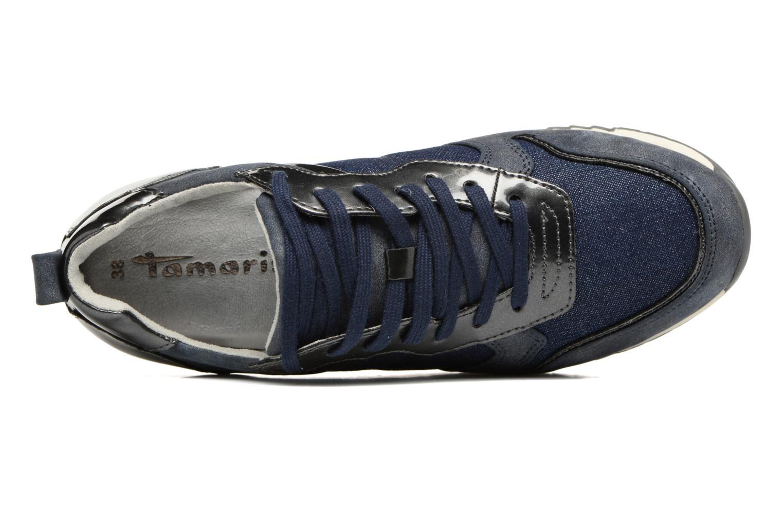 Sneaker Tamaris Mimosa blau ansicht von links