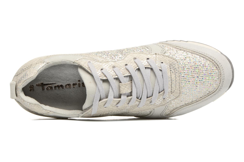 Sneaker Tamaris Mimosa silber ansicht von links