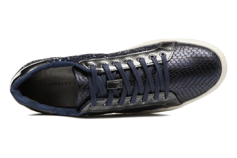 Sneaker Tamaris Narcisse blau ansicht von links
