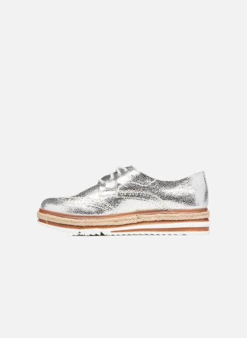 Zapatos con cordones Tamaris Pensée Plateado vista de frente