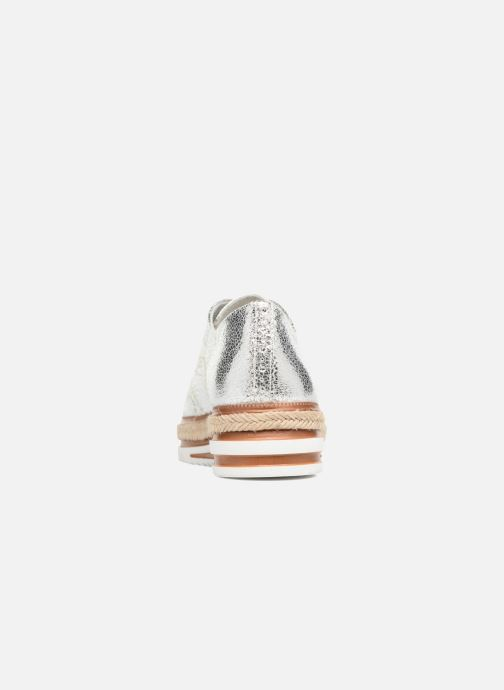 Zapatos con cordones Tamaris Pensée Plateado vista lateral derecha