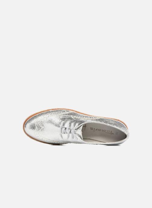 Zapatos con cordones Tamaris Pensée Plateado vista lateral izquierda