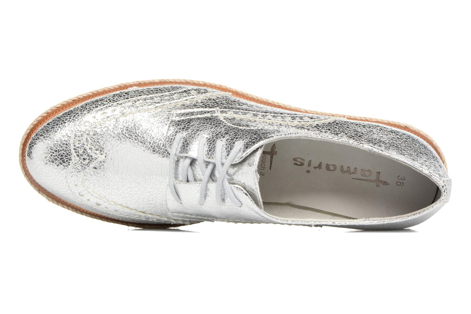 Lace-up shoes Tamaris Pensée Silver view from the left