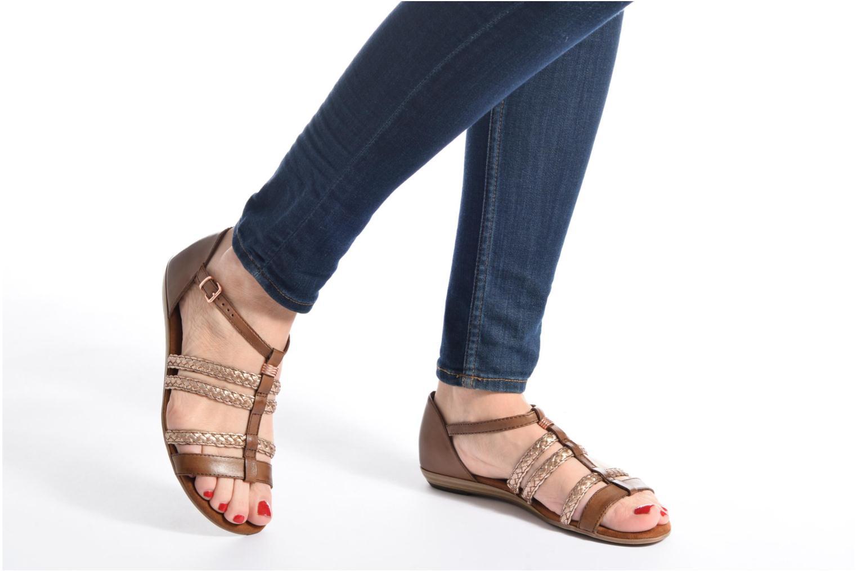 Sandalen Tamaris Muscari braun ansicht von unten / tasche getragen