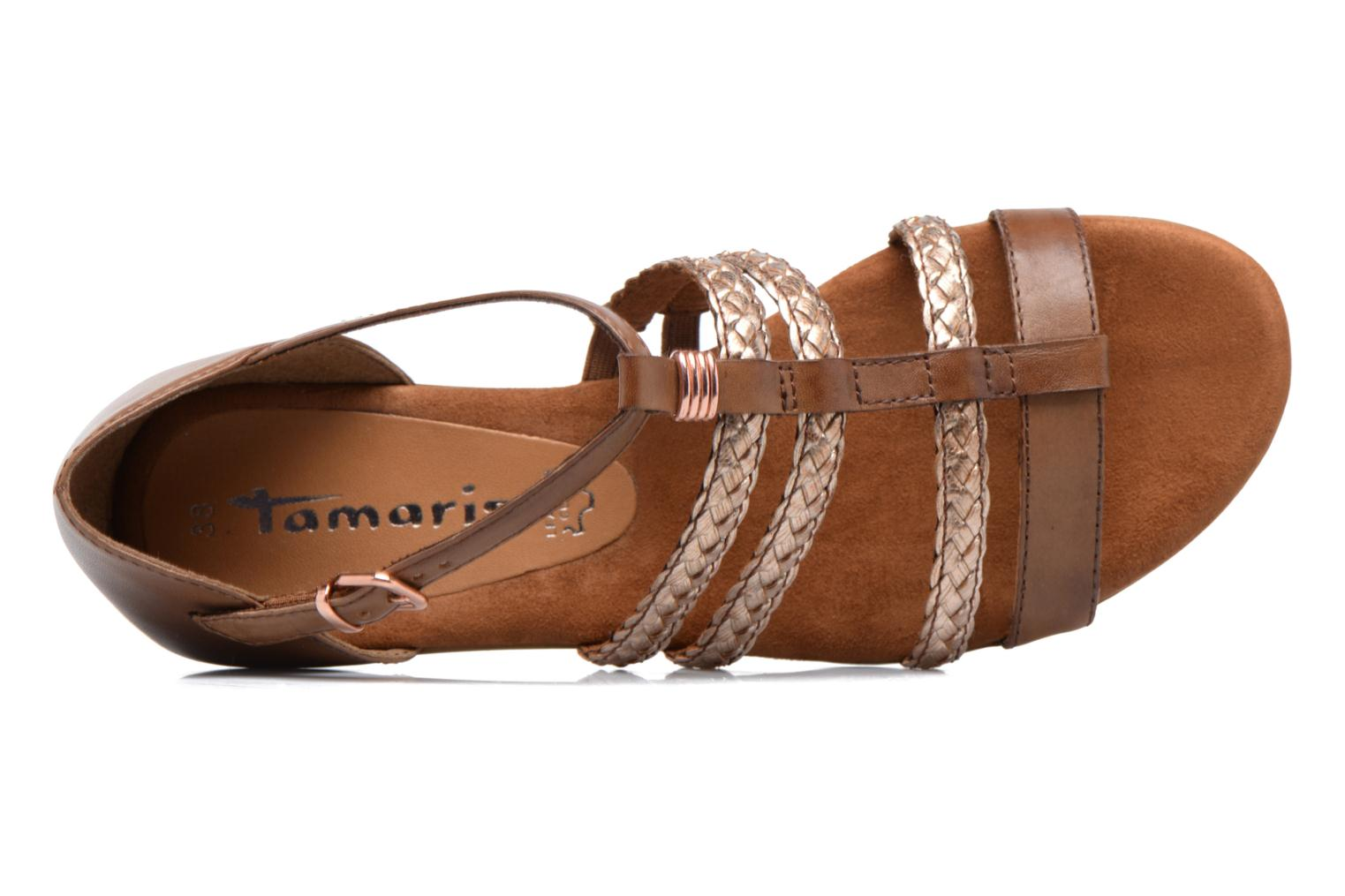 Sandals Tamaris Muscari Brown view from the left