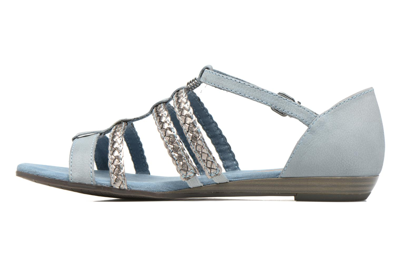 Sandales et nu-pieds Tamaris Muscari Bleu vue face