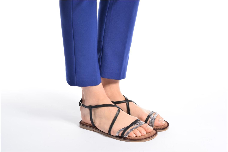 Sandales et nu-pieds Tamaris Cabaret Marron vue bas / vue portée sac