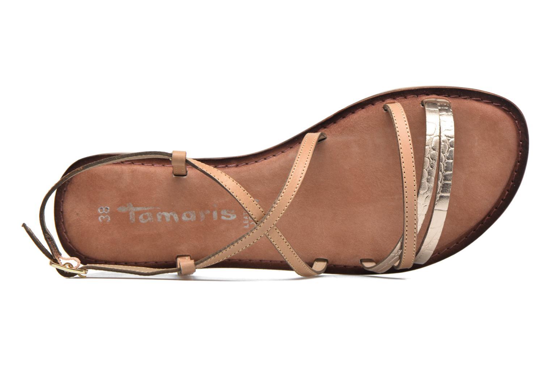 Sandales et nu-pieds Tamaris Cabaret Marron vue gauche