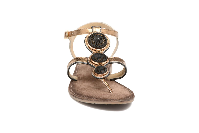 Sandals Tamaris Phacélie Bronze and Gold model view