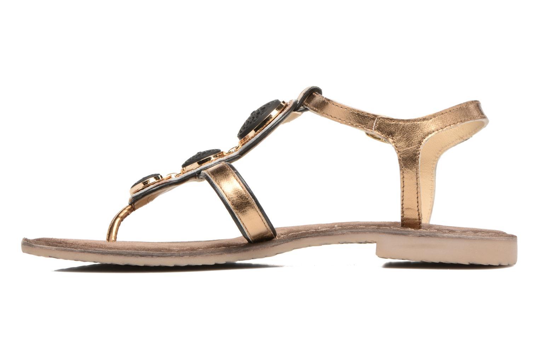 Sandals Tamaris Phacélie Bronze and Gold front view