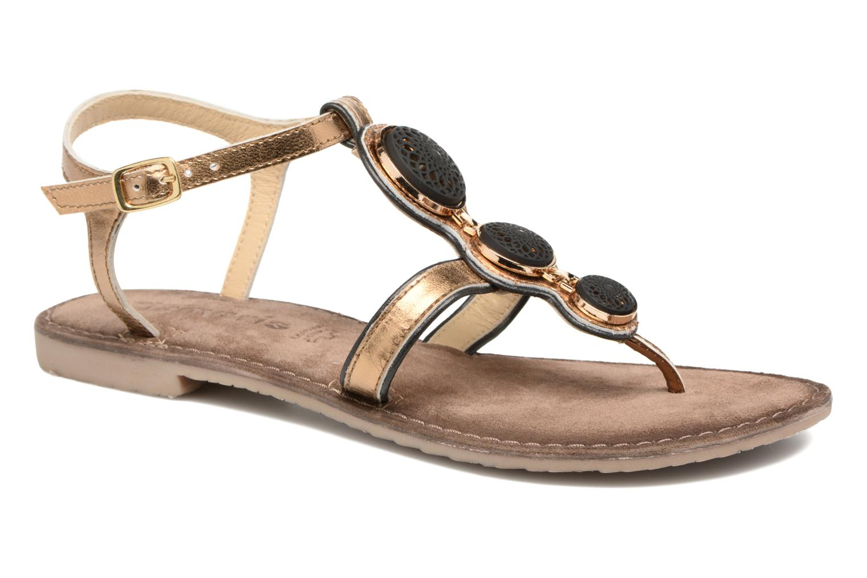 Sandals Tamaris Phacélie Bronze and Gold detailed view/ Pair view