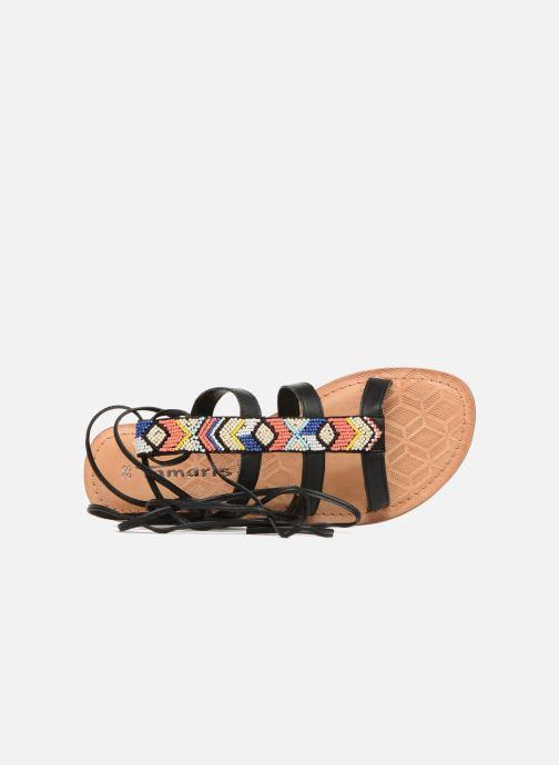 Sandales et nu-pieds Tamaris Réséda Noir vue gauche